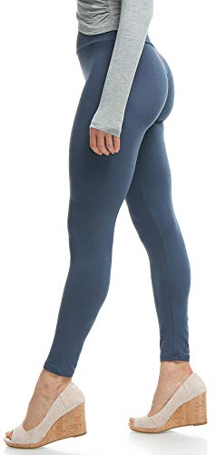 (Lush Moda Extra Soft Leggings - Variety of Colors -Plus Size Yoga Waist - Charcoal One Size fits Most (XL - 3XL))