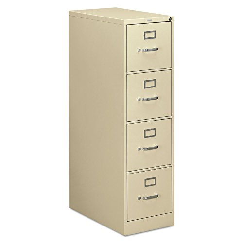 HON 4-Drawer Filing Cabinet - 310 Series Full-Suspension Letter File Cabinet, 26-1/2-Inch Drawers, Putty ()