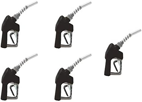 Husky 159404N-04 New X Unleaded Nozzle with Three Notch Hold Open Clip and Full Grip Guard Fіvе Расk