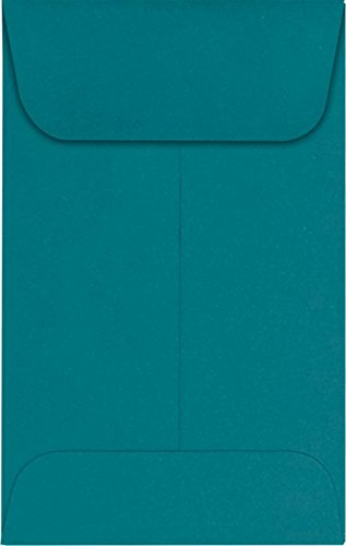 #1 Coin Envelopes (2 1/4 x 3 1/2) – Teal (1000 Qty.) | Perfect for the HOLIDAYS, Weddings, Parties & Place Cards | Fits Small Parts, Stamps, Jewelry, Seeds | LUX-1CO-25-1M