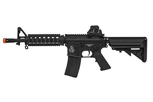 (Soft Air COLT M4 CQB Automatic Electric Airsoft Gun, Black )