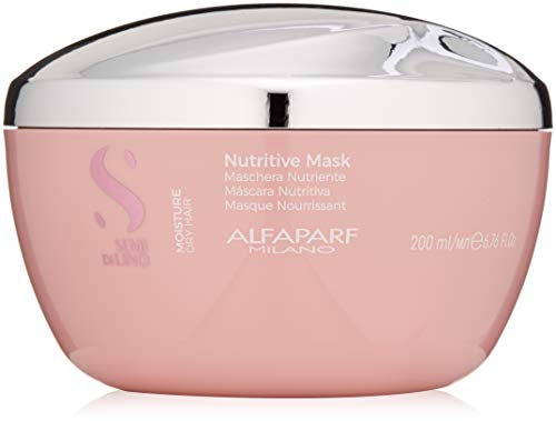Alfaparf Milano Semi Di Lino Moisture Nutritive Mask for Dry Hair - Safe on Color Treated Hair - Sulfate, SLS, Paraben and Paraffin Free - Professional Salon Quality (Alpha Energizing Formula)