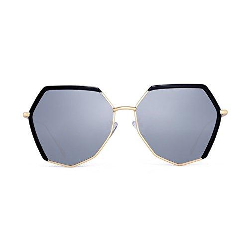 Retro Plata De Color La Polarizadas Sol Sol Personalidad Sol Gafas Cara Estilo Gafas De Plata Marea Redonda La Femenina Gafas De Harajuku LIZHIQIANG wYnApBSxF