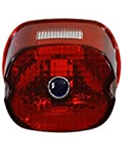V-Twin 33-1170 Tail Lamp Lens Laydown Style Red With Blue Dot