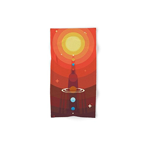 Society6 Solar Set of 4 (2 hand towels, 2 bath towels) by Society6