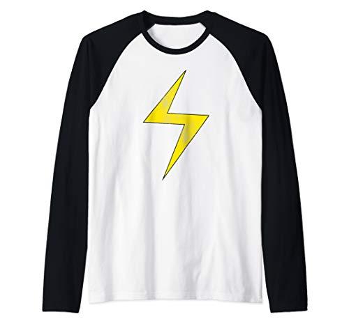 Marvel Ms. Marvel Lightning Bolt Icon Raglan Baseball Tee