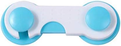 Azul 8 piezas Cerradura de seguridad Armario Armario Cerradura de caj/ón interior antipinchazos Cerradura de protecci/ón Instalaci/ón f/ácil Especial para ni/ños peque/ños