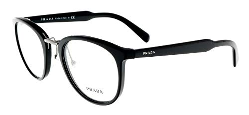 - Prada PR03TV Eyeglass Frames 1AB1O1-50 - Black PR03TV-1AB1O1-50