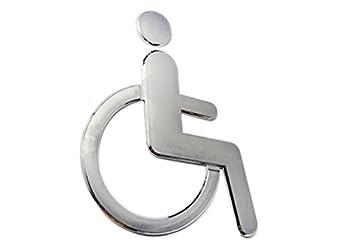 Amazoncom GooGou Wheelchair Toilet Symbol Acrylic Adhesive For - Handicap bathroom supplies