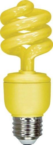 GE Lighting 78959 Energy Smart CFL Party Light 13-Watt Yellow T3 Spiral Light Bulb with Medium Base (25-watt replacement) 1-Pack ()