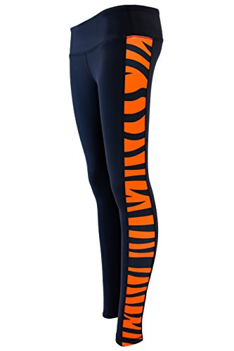 (TV Tiger Stripe Yoga Pant Leggings (Large), Black)