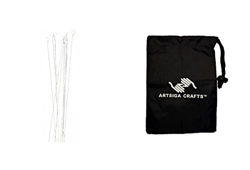 Darice Jewelry Making Tools Beading Needle Flexible Silver 3.5in. 12 Pieces (3 Pack) 1144 25 Bundle with 1 Artsiga Crafts Small Bag by Darice