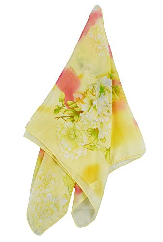 1950s Square Chiffon Scarf Sheer Square Neck Head Scarfs for Women,Christmas Scaves Gifts for Your Mom,Sister,Friend (printing 1)
