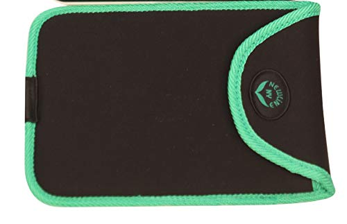 NewlineNY Travel Protection Sleeve for Super Mini 600 Series SBB0638SM Series Bathroom Scales (Case only, no Scale), NY-SMS-S001-BG Black with Green Edges