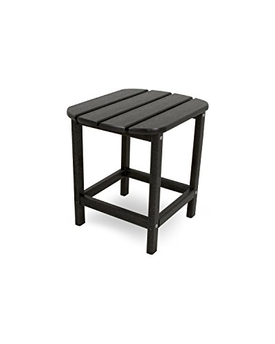 "POLYWOOD SBT18BL South Beach 18"" Outdoor Side Table, Black - Table is just the right size for resting drinks and snacks, making it the ideal companion to the South Beach Adirondack Chair, Dining Chair, Chaise Lounge or Rocking Chair Does not splinter, crack, chip, peel or rot and is resistant to corrosive substances such as oil, salt spray and other environmental stresses No painting, staining, waterproofing, or similar maintenance required - patio-tables, patio-furniture, patio - 31OWS22Mx0L -"