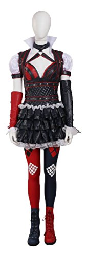 Mtxc Women's Batman Cosplay Arkham Knight Harley Quinn Full Set Size Medium Black - Harley Quinn Batman Arkham Knight Costume