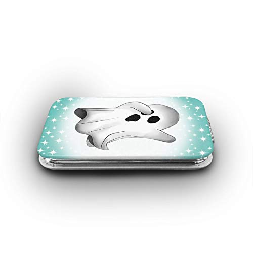 Cookfun Creepy Dabbing Funny Ghost Halloween Makeup Mirror Mini Pocket Mirror (Rectangle)
