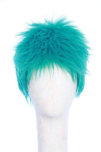CosplayWigsCom:Green reversed short hair cosplay wig -