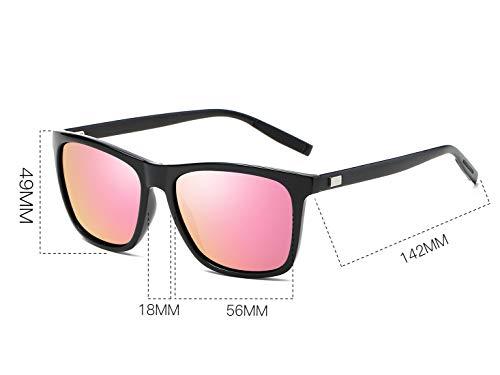 Bevi Unisex Polarized Sunglasses Wayfarer UV400 Brand Designer Sun glasses 0733C8BKPK by Bevi (Image #4)