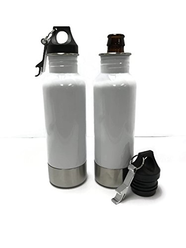 Craft Connections Stainless Steel Bottle Insulator with Opener - Pack of 2 (White-White) by Craft Connections