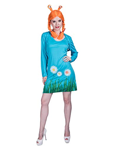 Halloween Snail Animal Cosplay Costume (Dress,Wig,Backpack) for Adult Women ()