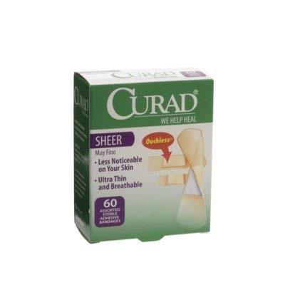 CUR02276 - Medline CURAD Sheer Adhesive Bandages,Sheer,Yes