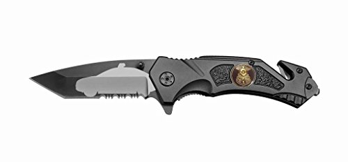 Rogue-River-Tactical-Black-PO-Police-Law-Enforcement-Spring-Assist-Rescue-Pocket-Knife-Police-Car-Tanto-Blade-with-Glass-Breaker-Seat-Belt-Cutter-Assisted-Combat-Knives-