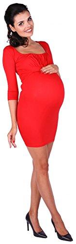 Zeta Ville - abito prémaman a pieghe in jersey di viscosa stretch - donna - 080c Rojo