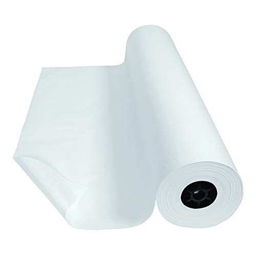 Colorations Dual Surface Paper Roll Classroom Supplies for Arts and Crafts White (36