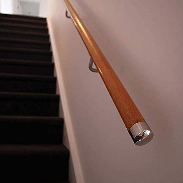 Tapas para extremos de pasamanos de acero inoxidable cromado, 45 mm, 1 par: Amazon.es: Bricolaje y herramientas