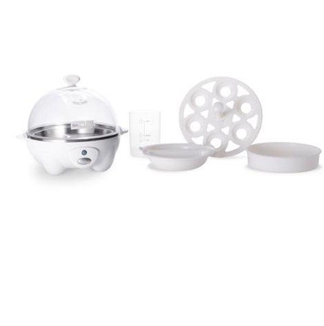 Appliances-Egg Cooker-DASH Go Rapid Egg Cooker In White-Healthy Cooking-Eggs- It boils up to six eggs at a time!