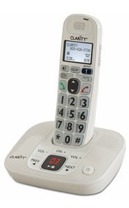 Clarity D712 Moderate Hearing Loss Cordless Phone - Expandable Handsets (Clarity D712) - Amplified Ringer Telephone