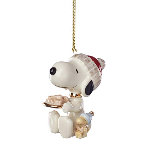 Lenox 884773 Snoopy Dog Treats Ornament (Decorations Christmas Snoopy)