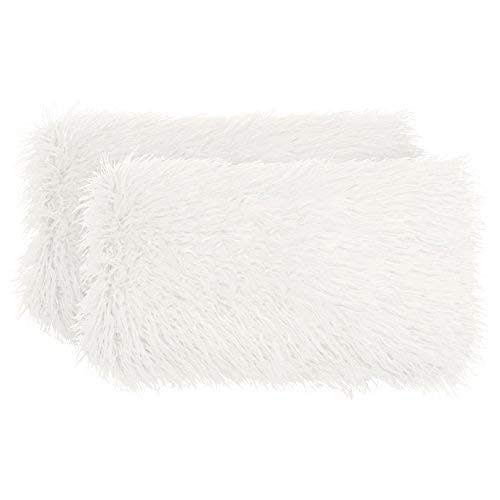 Boho Living Mongolian Faux Fur (2 Piece) Decorative Lumbar Pillow Set 14