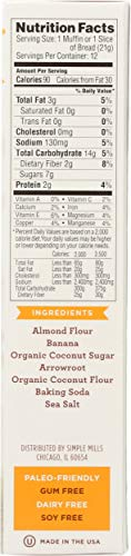 Simple Mills Almond Flour Baking Mix, Gluten Free Banana Bread Mix, Muffin Pan Ready, Made with whole foods, (Packaging May Vary), 9 Ounce 6