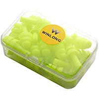 Win Long Ear Plugs, 10 Pairs Silicone Noise Reducing...