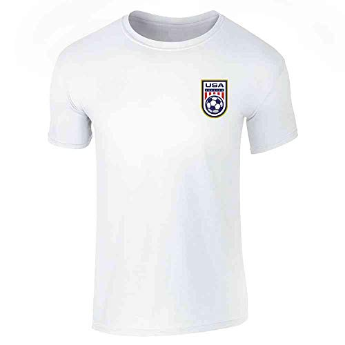(USA Soccer Retro National Team Jersey White L Short Sleeve T-Shirt)