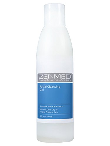 ZENMED Facial Cleansing Gel - 6 oz. Ph Balanced Certified Organic Formulation for Troubled and Sensitive Skin Will Not Over-Dry or Irritate Problem Skin