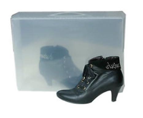 Zapato De Plástico Plegable Transparente Cajas POkXZiu