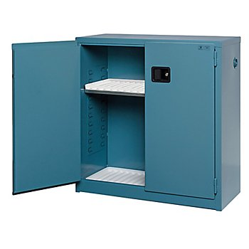 New Pig CAB752 18-Gauge Steel Corrosives Safety Cabinet with Manual Close Door, 30 Gallon Capacity, 43