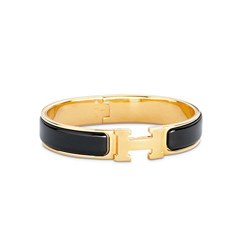 buckle-bangle-bracelet-clic-clac-h-shaped-black-gold