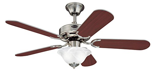 Westinghouse Richboro Ceiling Fan and Light, Brushed Nickel