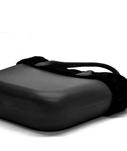 Fantasia blu Pelo Spalla Bag Manici Sacca Scocca Pelliccia Silicone Ricamati Donna Bordo Smontabile Completa Nero Borsa TStn6wFqn