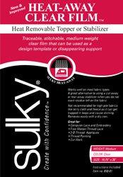 Heat Away Stabilizer (HEAT-AWAY CLEAR FILM 19.75