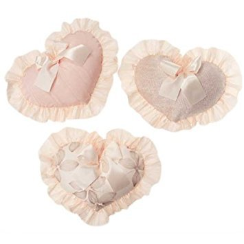 Jean Baby Wall Glenna Hanging - Glenna Jean 3 Hearts Florence Wall Hanging, Grey/Cream/Pink