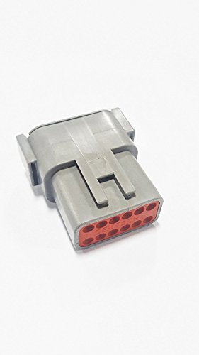 TE CONNECTIVITY DTM04-12PA Connector Housings connectors-rectangular-plastic-industrial DTM Series 12 Contact 16 to 20 AWG Size 20 Male Terminal Housing - 1 item(s)