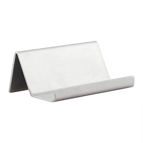 (Partstock Business Name Card Holder,Premium Brushed Stainless Steel Office Desk Display Stand - Holder 50-70 Name Card,Professional Business Card Rack Organizer)