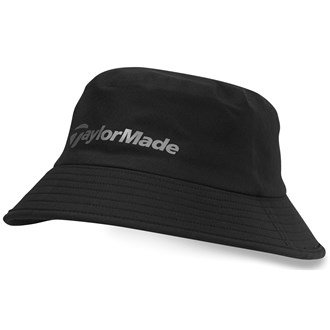2016 TaylorMade Storm Water Resistant Stretch Fit Men's Golf Bucket Hat Black Small/Medium (Storm Fit Bucket)