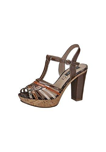 Braun Kombiniert Heel of Brown High Sandal Design The Queen's with HTfxqn8aO