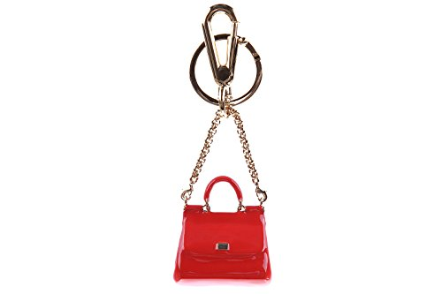 Dolce&Gabbana women's steel keychain key holder red by Dolce & Gabbana